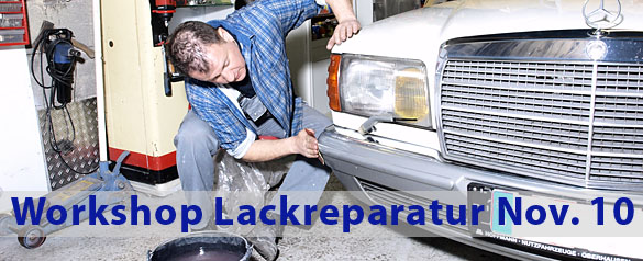 Workshop Lackreparaturen mit Frank Forsbach